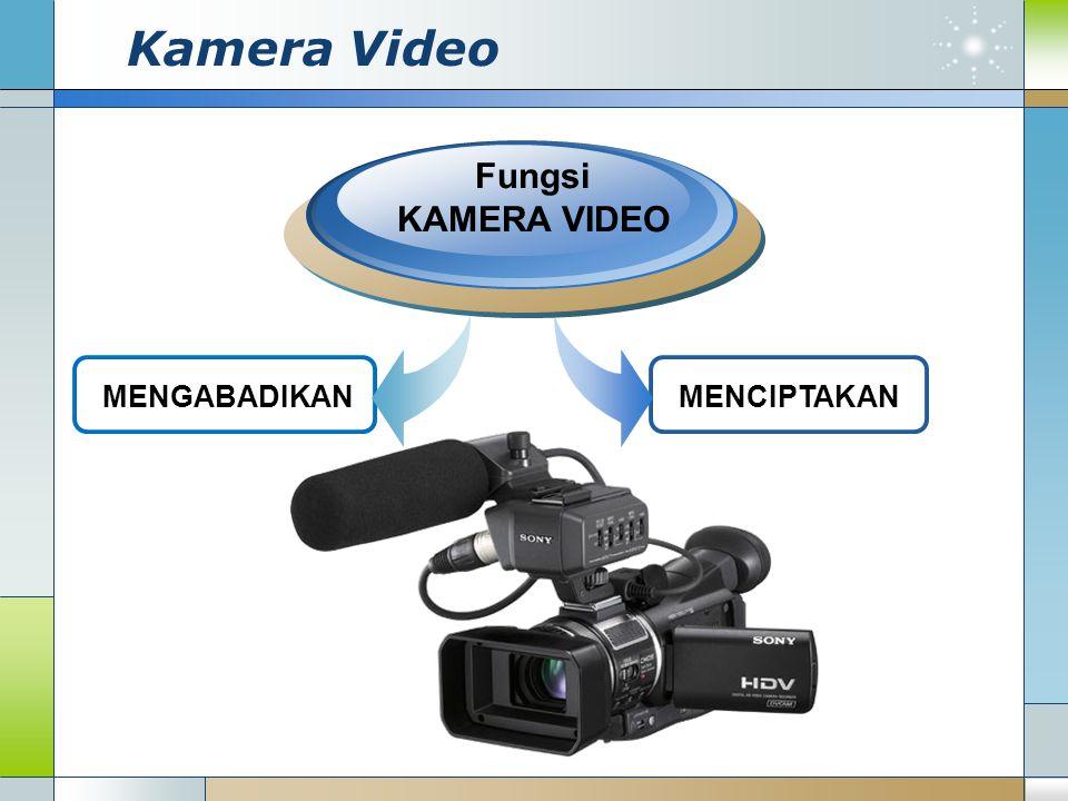 Kamera Video MENGABADIKAN Fungsi KAMERA VIDEO MENCIPTAKAN