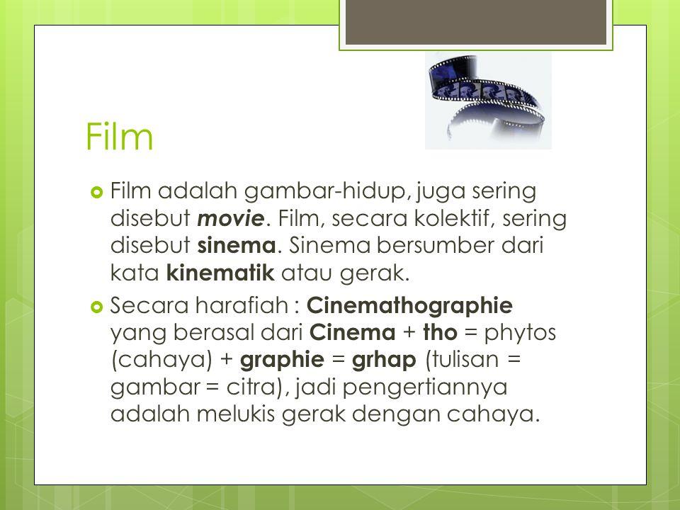 Film  Film adalah gambar-hidup, juga sering disebut movie.