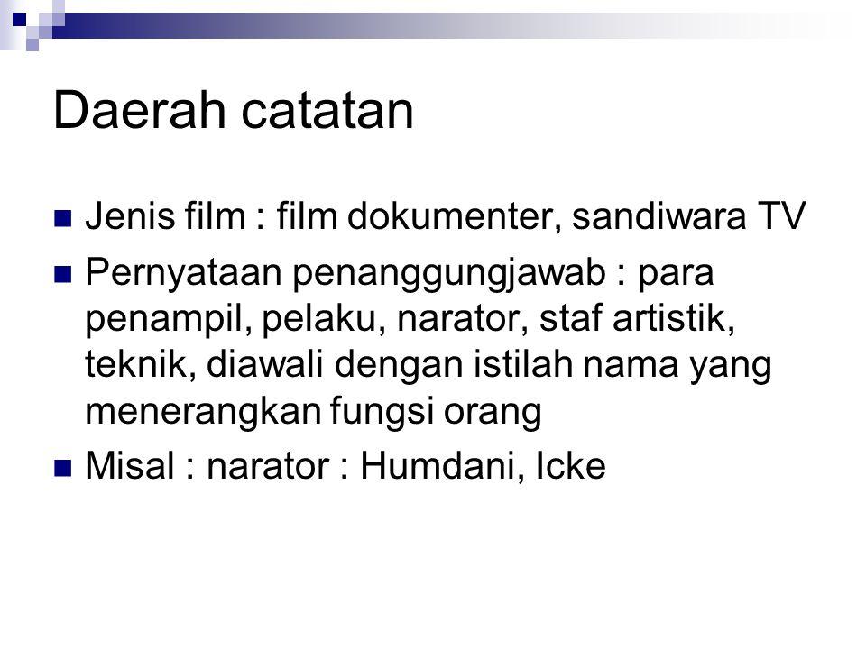 Beberapa kondisi yang mempengaruhi Tajuk Entri Utama Film.