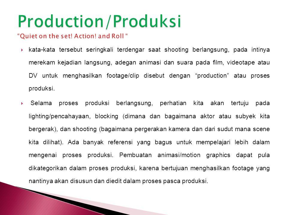  Ketika kita sedang mengerjakan proyek professional ataupun pribadi, maka sangat dianjurkan untuk merencanakan anggaran biaya produksi.