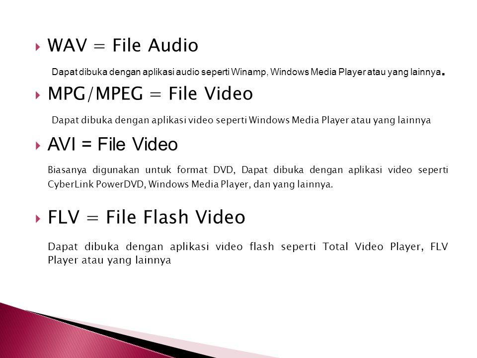  GIF (Graphic Interchange Format) Format file ini hanya mampu menyimpan dalam 8 bit (hanya mendukung mode warna Grayscale, Bitmap dan Indexed Color).
