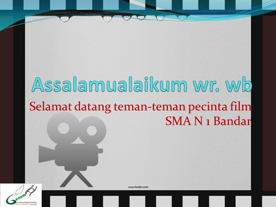 Tujuan saya mengumpulkan anda semua  Agar di SMA N 1 Bandar sendiri terbentuk komunitas pecinta film.