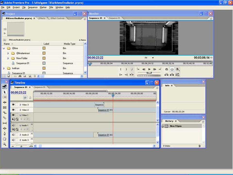 Con't d 2.Editing Video  Tahap selanjutnya dalam pembuatan film animasi yaitu Editing.