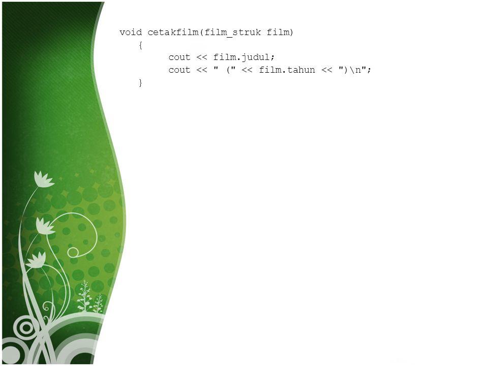 strcpy() • Pada contoh program di atas ada fungsi strcpy() dan atoi() • Strcry() adalah fungsi yang ada pada file header string.h yang berfungsi untuk mengcopy string.
