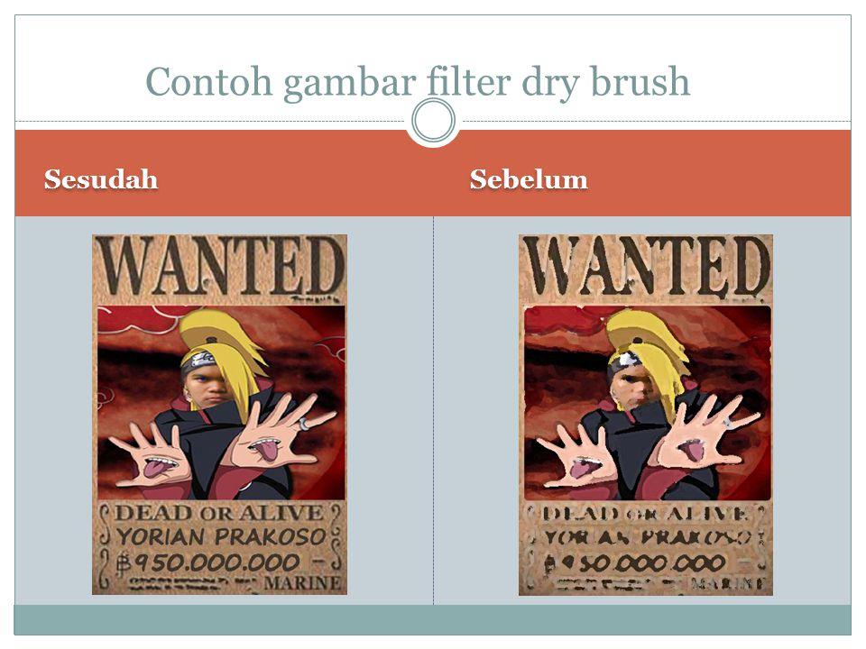 Sesudah Sebelum Contoh gambar filter dry brush