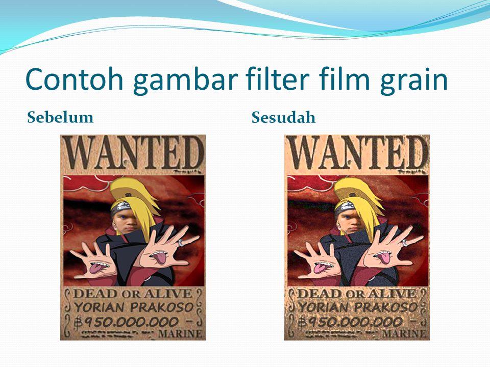 Contoh gambar filter film grain Sebelum Sesudah