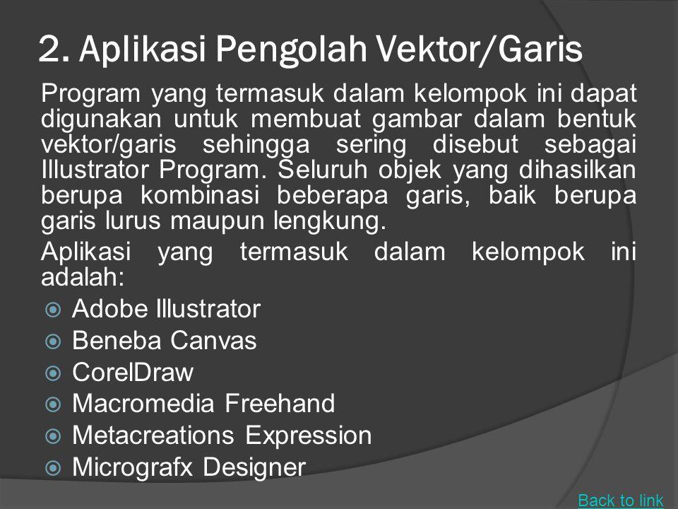 1. Aplikasi Pengolah Tata Letak (Layout) Program ini sering digunakan untuk keperluan pembuatan brosur, pamflet, booklet, poster, dan lain yang sejeni