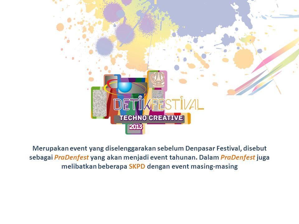 Merupakan event yang diselenggarakan sebelum Denpasar Festival, disebut sebagai PraDenfest yang akan menjadi event tahunan. Dalam PraDenfest juga meli