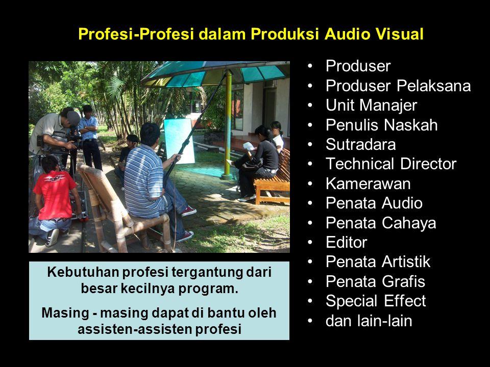 PRODUKSI •A•Adalah kegiatan merubah naskah menjadi bentuk video atau dengan kata lain SHOOTING Kerabat kerja : Kamerawan, Sutradara / Pengarah, dan la