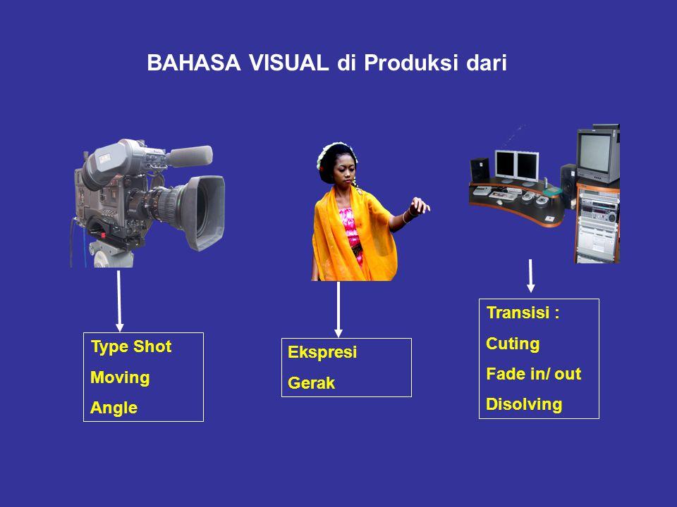 Produksi AUDIO VISUAL KOLABORASI KERJA BERBAGAI PROFESI PENULIS NASKAH SUTRADARA KAMERAWAN AUDIO OPERATOR LIGHTING OPERATOR EDITOR PENATA ARTISTIK PRO