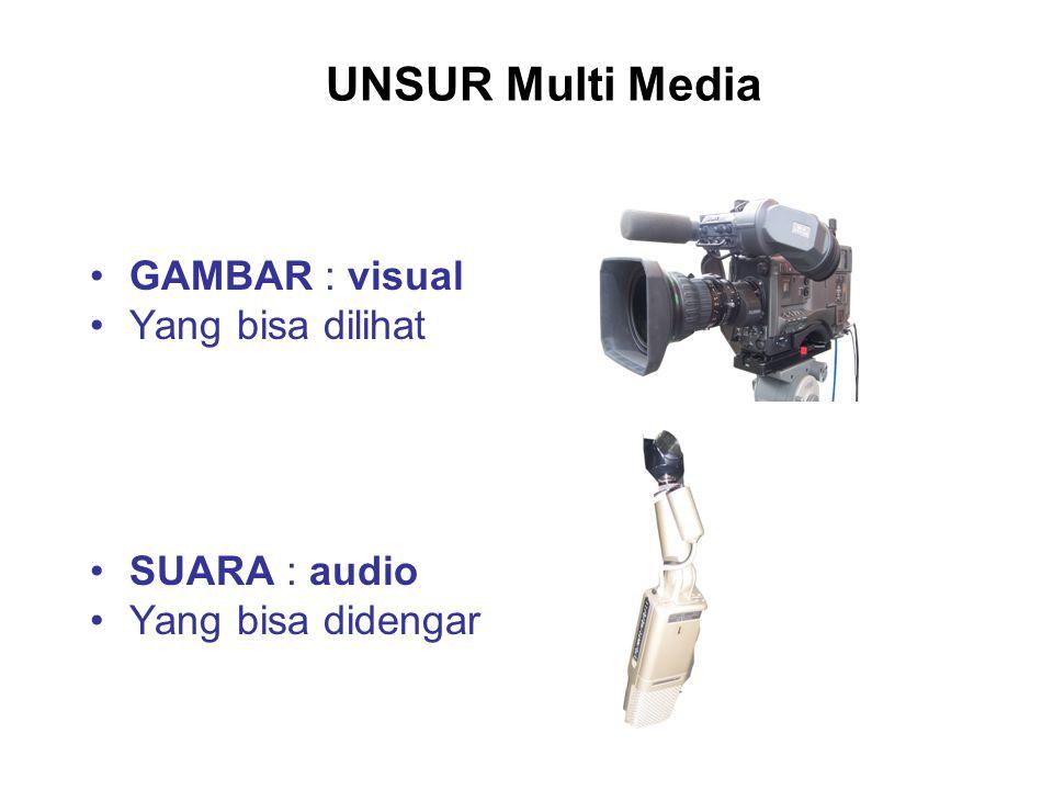 Pada dasarnya media komunikasi lebih mengedepankan kekuatan Visual. Sedangkan peran Audio sebagai penunjang yang memperkuat tampilnya Visual.