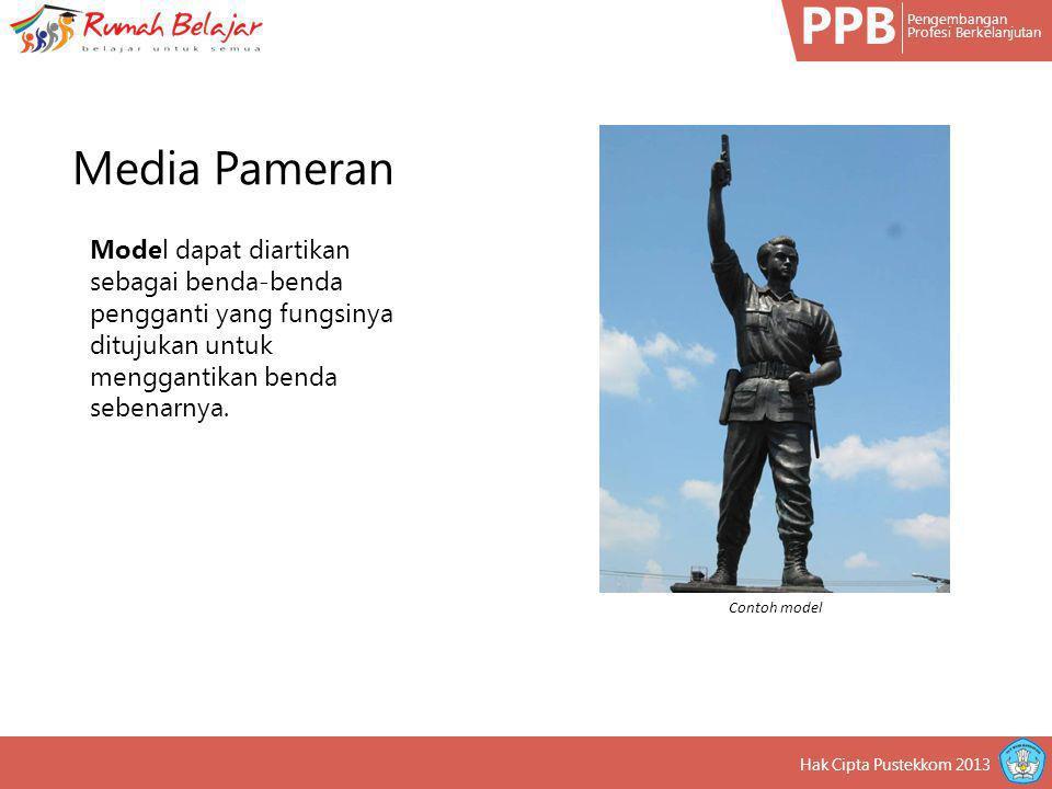 PPB Pengembangan Profesi Berkelanjutan Hak Cipta Pustekkom 2013 Model dapat diartikan sebagai benda-benda pengganti yang fungsinya ditujukan untuk men