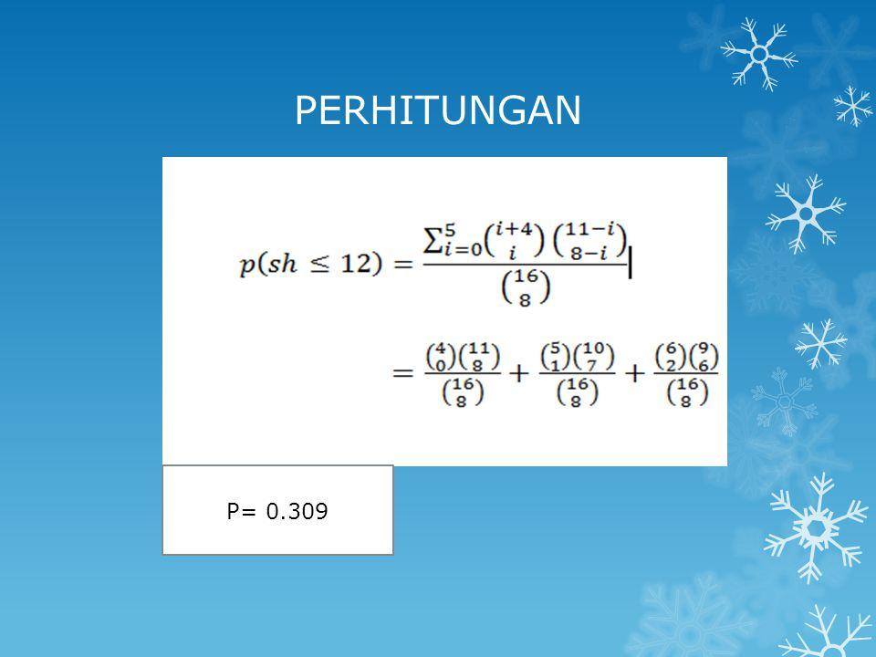 PERHITUNGAN P= 0.309