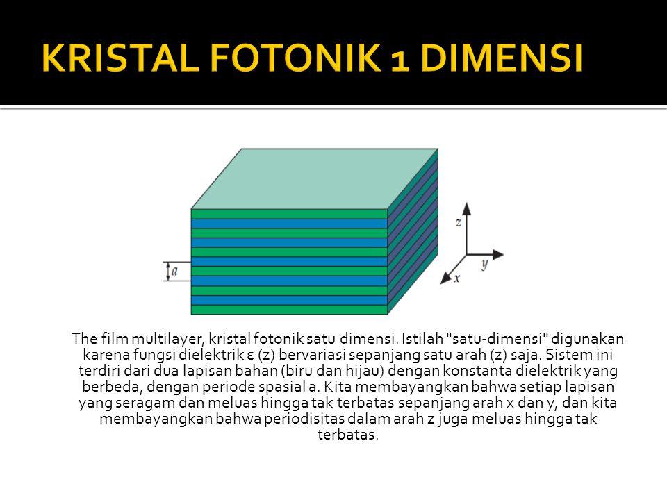 The film multilayer, kristal fotonik satu dimensi. Istilah
