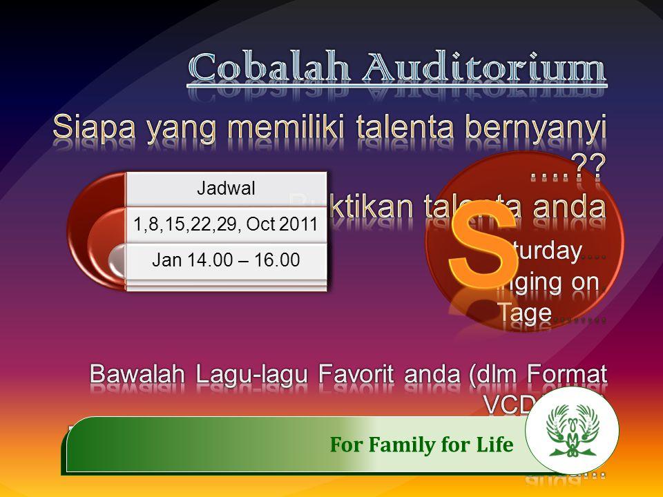 .……………..…………… For Family for Life FEED BACK: (September 2011) 1.Sampai saat ini masih belum ada yang memanfaatkannya.