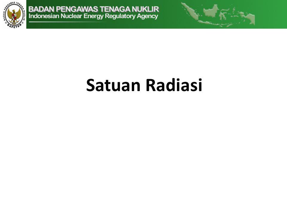 Satuan Radiasi
