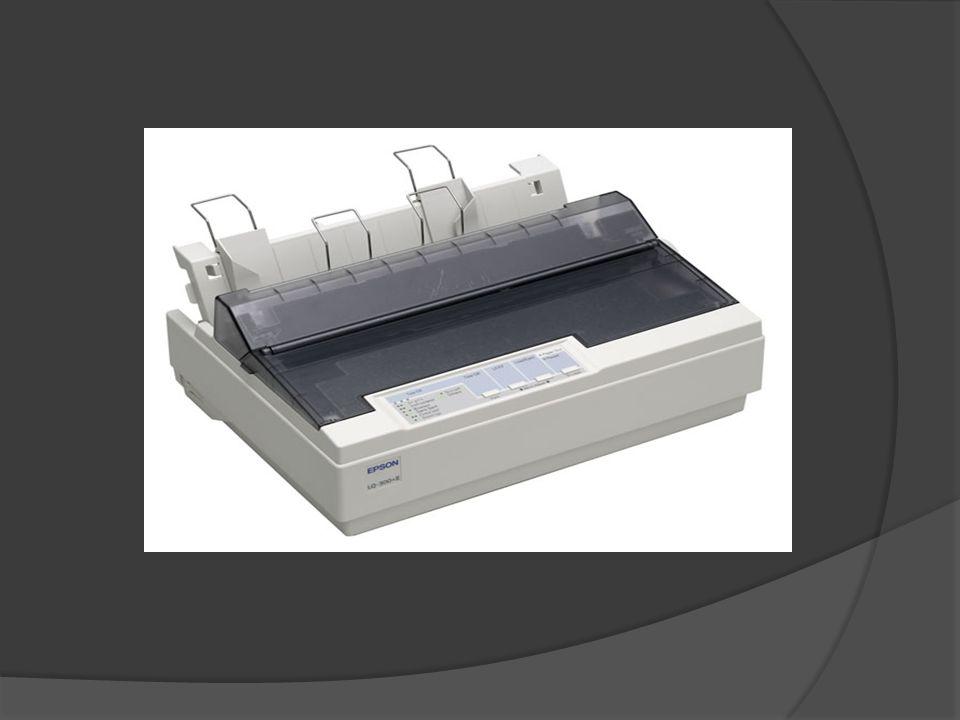 Printer Dot Matrix adalah Printer/Pencetak yang bekerja dengan menjalankan jarum di atas pita tinta dan kertas. Karakter atau gambar dibentuk dari sek