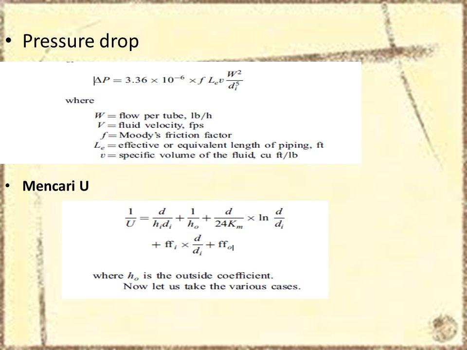 •P•Pressure drop •M•Mencari U