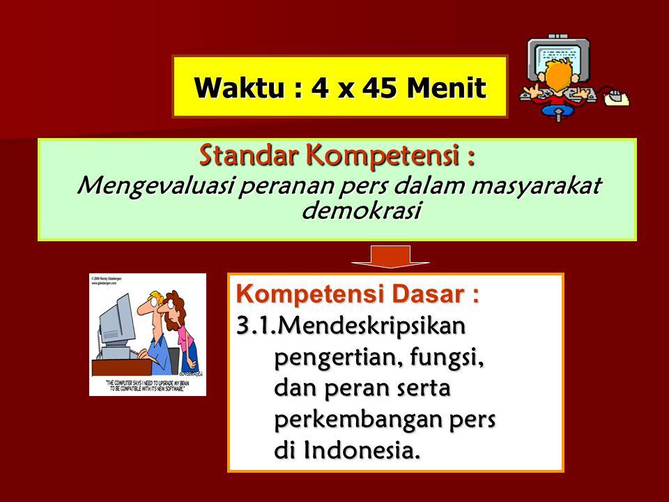 e.Kode Etik Jurnalistik Dan Tanggung Jawab Profesi Kewartawanan Aturan main (rules of the game ) pers nasional:  Landasan Idiil: Pancasila (Pemb UUD 1945).