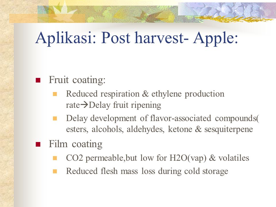  The effects of harvest-applied coating and shrink-wrap film treatments of apples (Malus xdomestica Borkh.