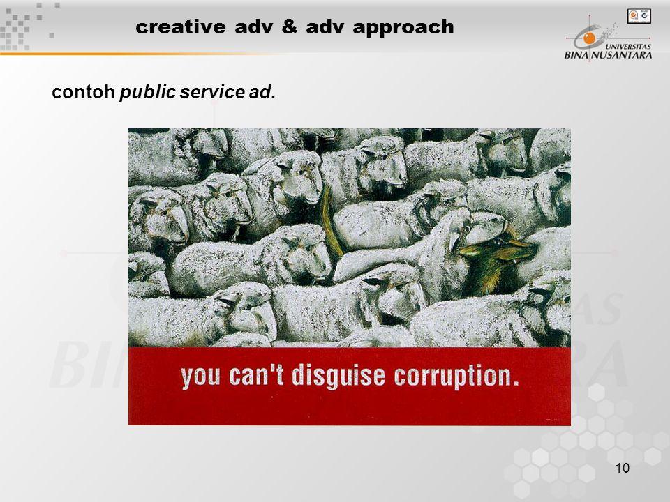 10 creative adv & adv approach contoh public service ad.