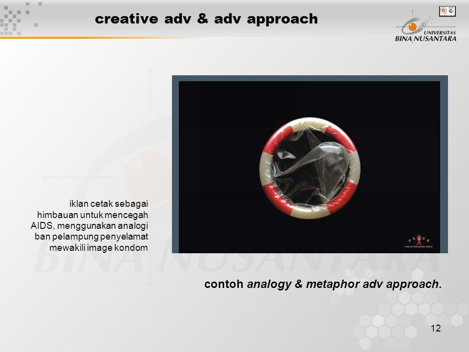 12 creative adv & adv approach iklan cetak sebagai himbauan untuk mencegah AIDS, menggunakan analogi ban pelampung penyelamat mewakili image kondom co