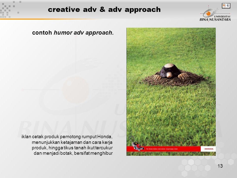 13 creative adv & adv approach iklan cetak produk pemotong rumput Honda, menunjukkan ketajaman dan cara kerja produk, hingga tikus tanah ikut tercukur