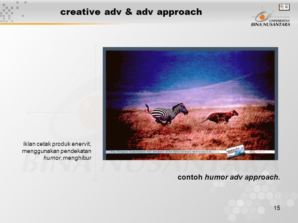 15 creative adv & adv approach iklan cetak produk enervit, menggunakan pendekatan humor, menghibur contoh humor adv approach.