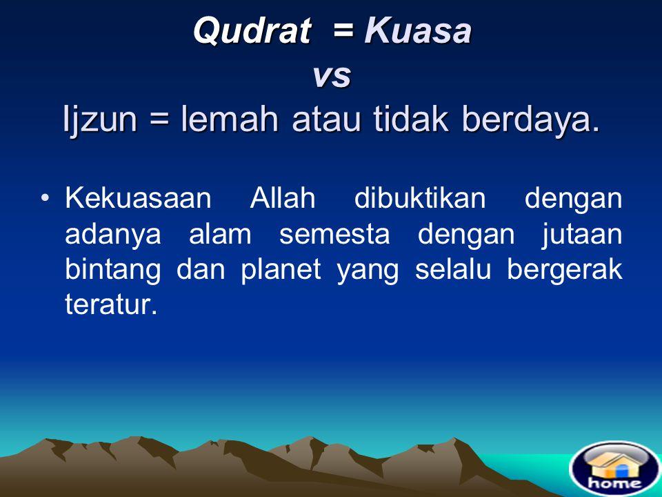 Sifat Ma'ani •Sifat wajib Allah yang dapat digambarkan oleh akal pikiran manusia dan dapat meyakinkan orang karena kebenarannya dapat dibuktikan denga