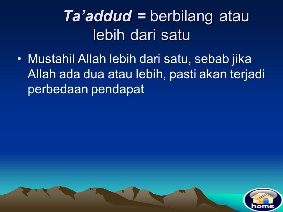 Allah berfirman yang artinya ; Dan Dialah yang Maha kaya sedangkan kamulah orang yang membutuhkan Nya (Q.S. Muhammad / 47 : 38 )