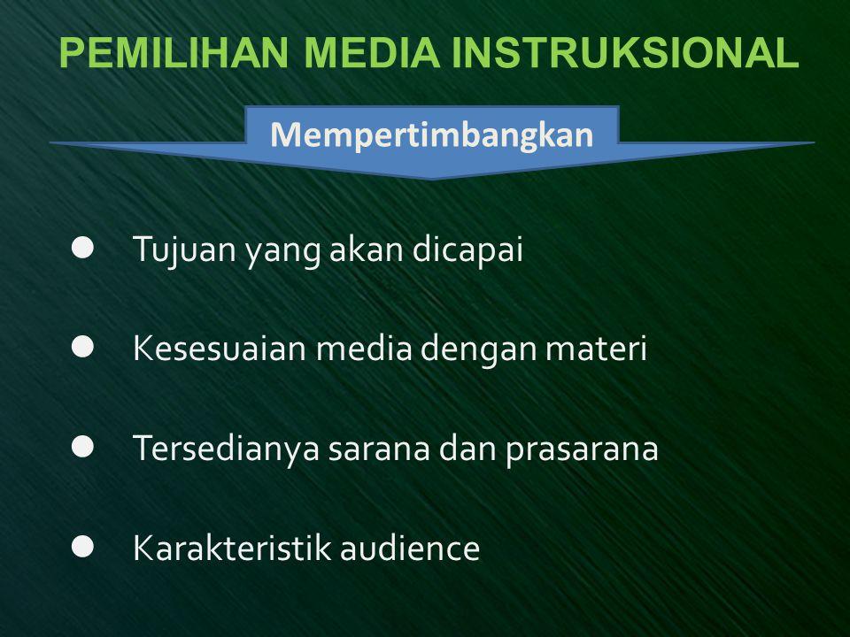 Media Syarat Pengembangan Media Visible:Mudah dilihat Interesting:Menarik Simple:Sederhana Useful:Isinya berguna/bermanfaat Accurate:Benar (dapat dipertanggungjawabkan) Legitimate:Masuk akal/sah Structured:Terstruktur/tersusun dengan baik VISUALSVISUALS
