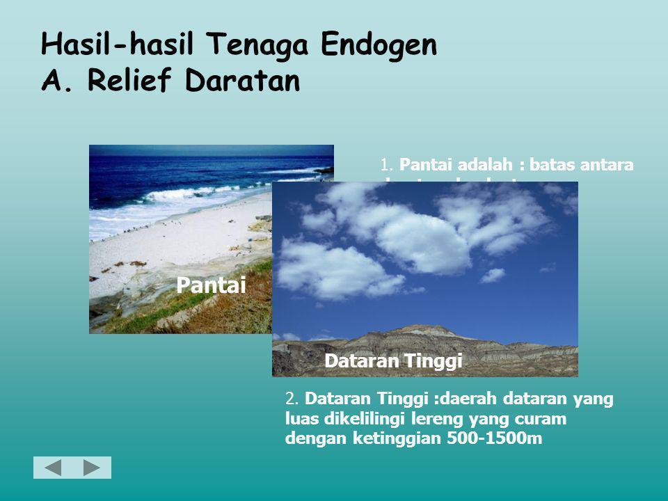 Sifat-sifat Tenaga Eksogen •Merusak bentuk muka bumi yang telah dibangun oleh tenaga endogen contoh : abrasi air laut