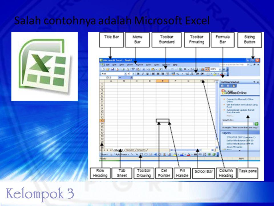 Salah contohnya adalah Microsoft Excel