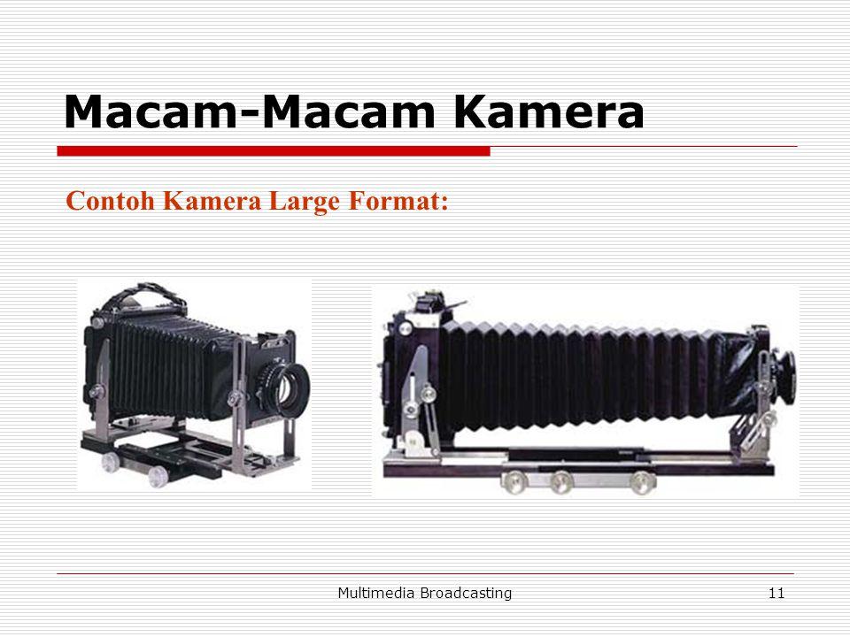 Multimedia Broadcasting11 Macam-Macam Kamera Contoh Kamera Large Format: