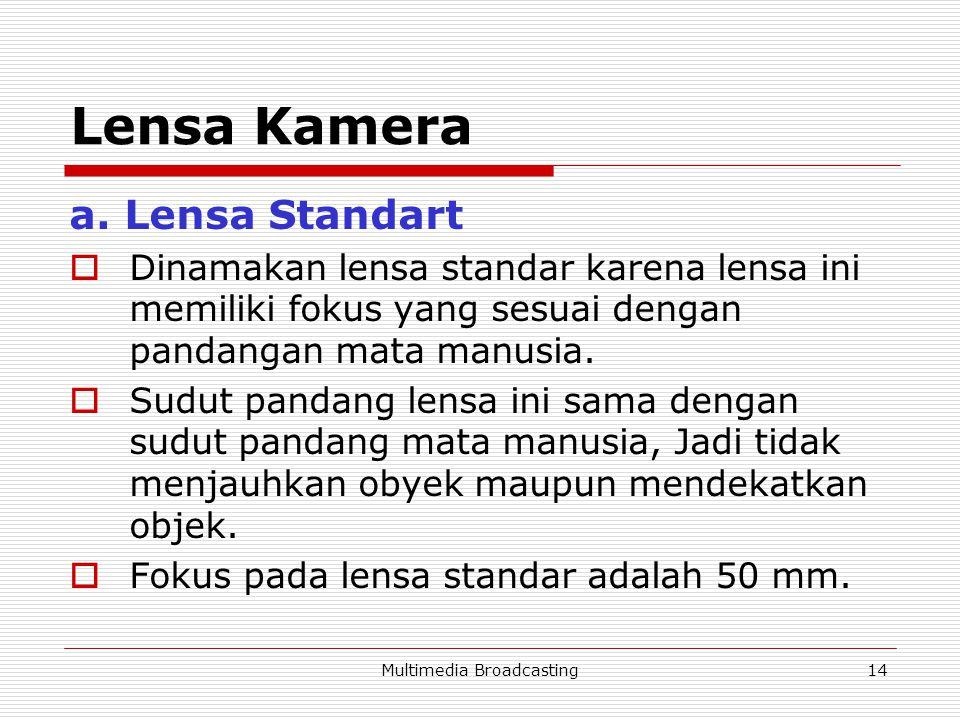 Multimedia Broadcasting14 Lensa Kamera a.