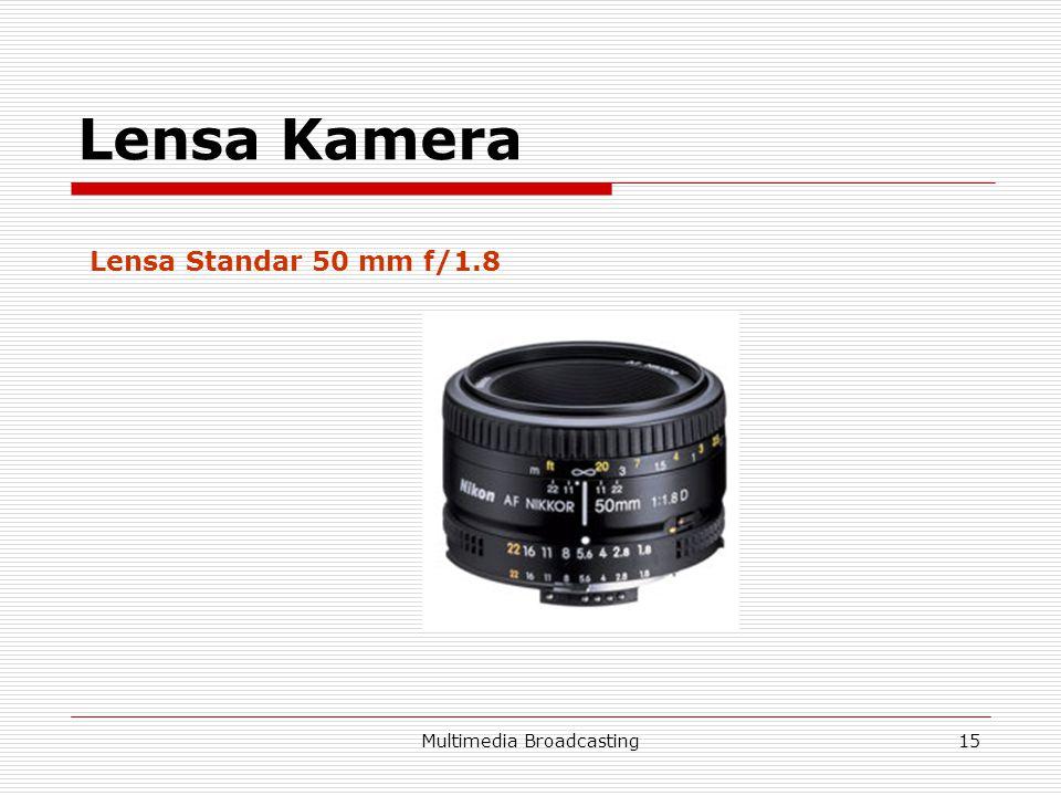 Multimedia Broadcasting15 Lensa Kamera Lensa Standar 50 mm f/1.8