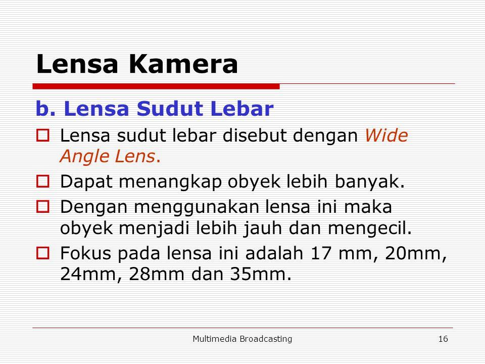 Multimedia Broadcasting16 Lensa Kamera b.