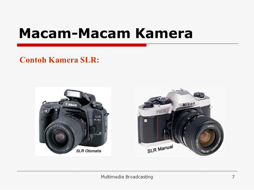Multimedia Broadcasting8 Macam-Macam Kamera 3.Range Finder  Kamera Point and Shoot, lensa tetap.