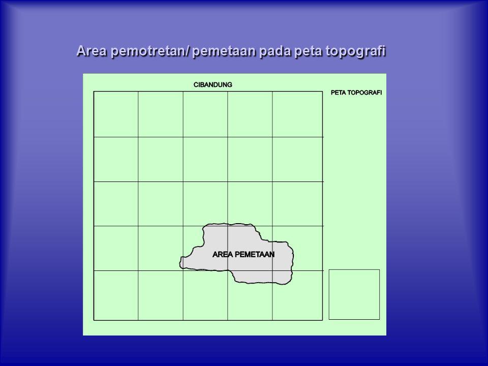 Area pemotretan/ pemetaan pada peta topografi