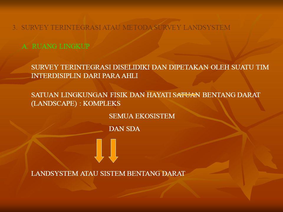 3.SURVEY TERINTEGRASI ATAU METODA SURVEY LANDSYSTEM A.