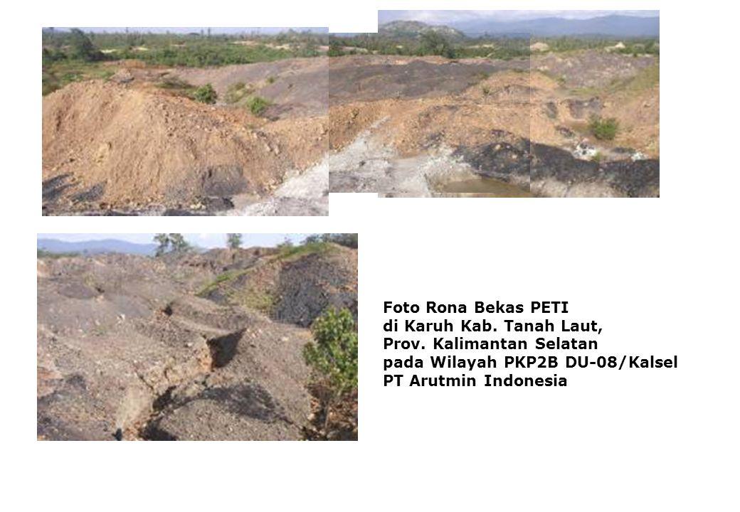 Foto Rona Bekas PETI di Karuh Kab. Tanah Laut, Prov. Kalimantan Selatan pada Wilayah PKP2B DU-08/Kalsel PT Arutmin Indonesia