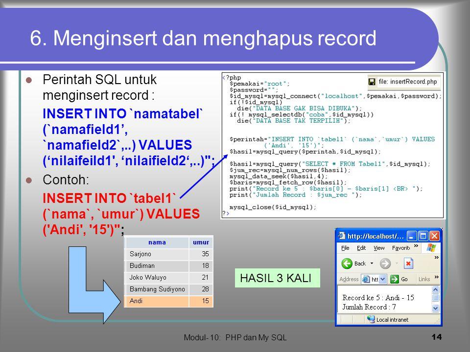 Modul- 10: PHP dan My SQL 13 5.