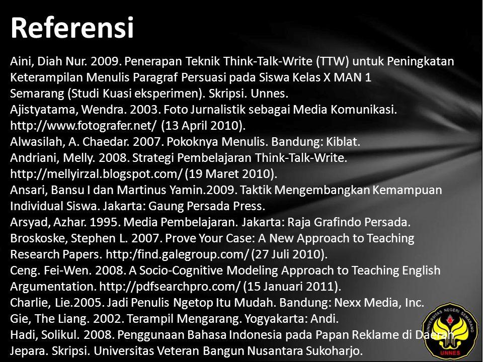 Referensi Aini, Diah Nur. 2009.