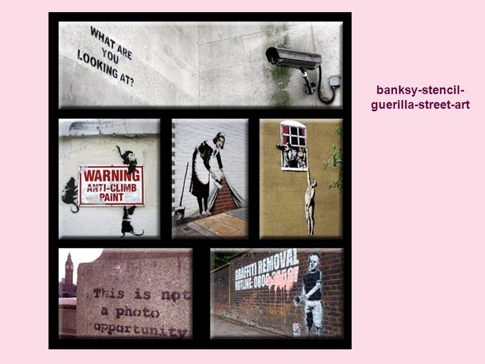banksy-stencil- guerilla-street-art