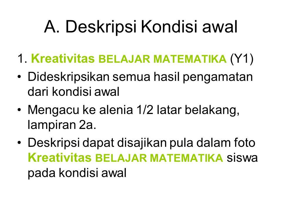 Deskripsi Kondisi awal (2) 2.