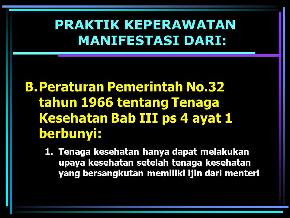 TUJUAN TERBITNYA KEPMENKES NO.1239/2001 TUJUAN UMUM Pengaturan terhadap Registrasi dan Praktik perawat adalah untuk memberikan landasan hukum terhadap Praktik Keperawatan agar masyarakat dan perawat dapat terlindungi TUJUAN KHUSUS 1.