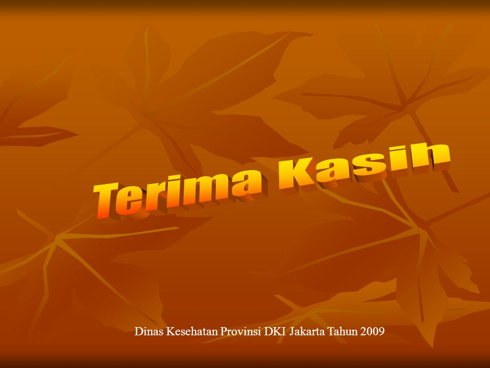 Dinas Kesehatan Provinsi DKI Jakarta Tahun 2009