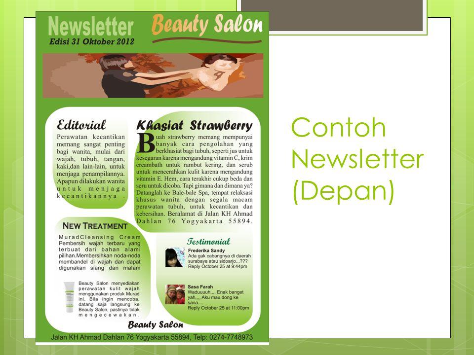 Contoh Newsletter (Depan)