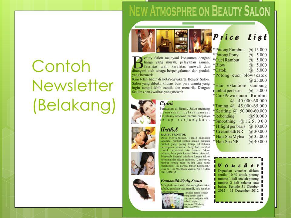 Contoh Newsletter (Belakang)