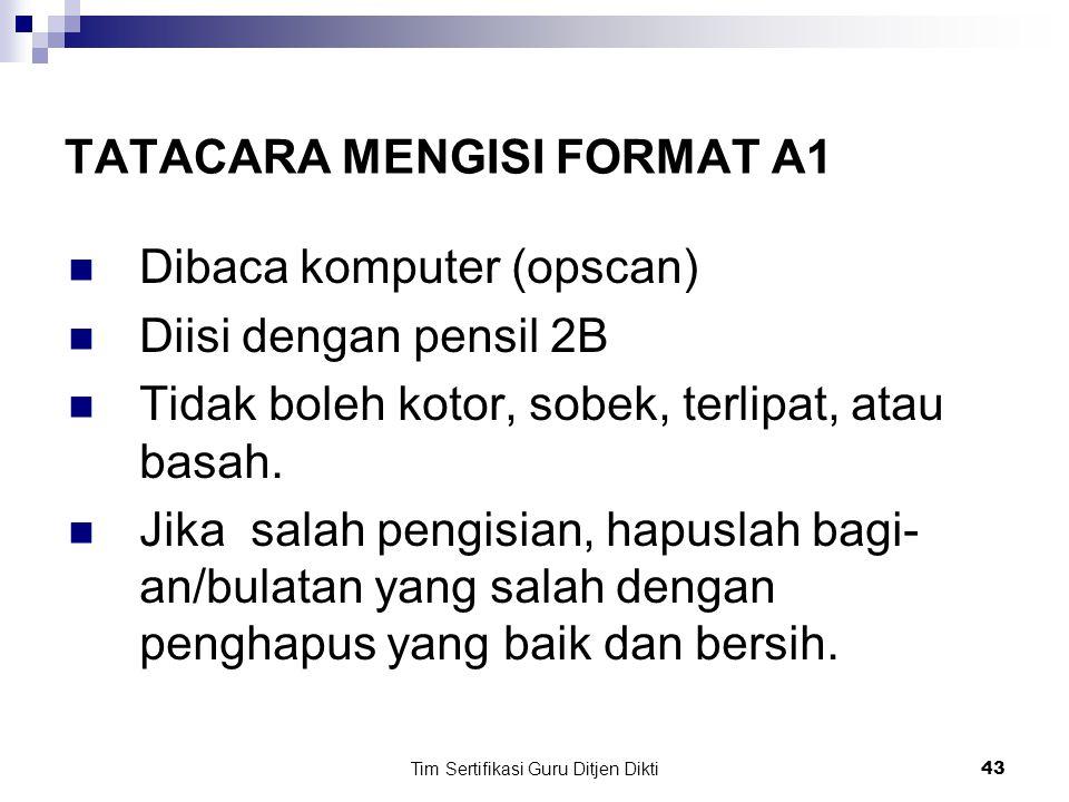 Tim Sertifikasi Guru Ditjen Dikti42 Contoh:  Guru SMP dalam matapelajaran matematika di SMP provinsi Bengkulu (koding 26) Kabupaten Lebong (koding 07) sebagai pengikut sertifikasi tahun 2007.